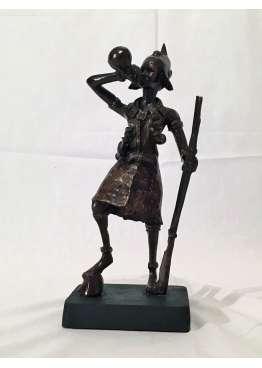 Statuette Bronze LE GUERRIER D'AETHIOPIA