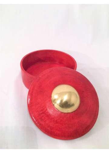 Boite Cuir & Bronze TAMACHEQ