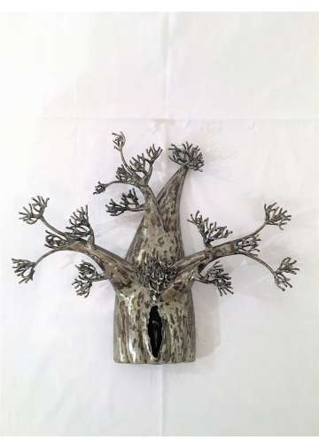 Sculpture metal baobab mural fer forge - Deco fer forge mural ...
