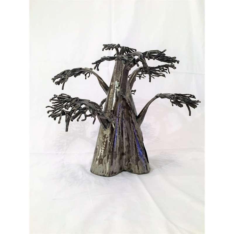 sculpture metal baobab a poser metal brut. Black Bedroom Furniture Sets. Home Design Ideas