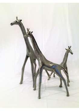 Girafe Metal Brut