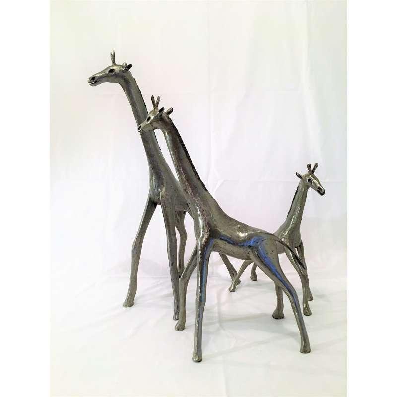 sculpture metal girafe metal brut. Black Bedroom Furniture Sets. Home Design Ideas