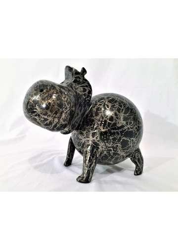Hippopotame Metal Brosse