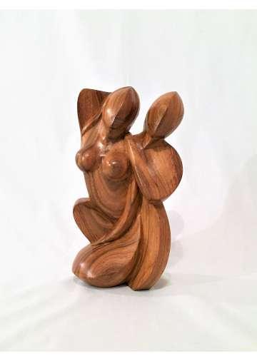 Sculpture Bois Amour Epanoui