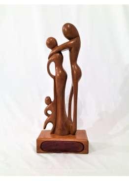 Sculpture Bois La Famille