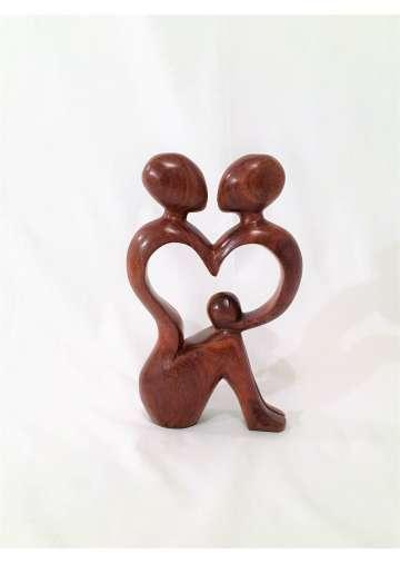 Sculpture Bois Le Couple