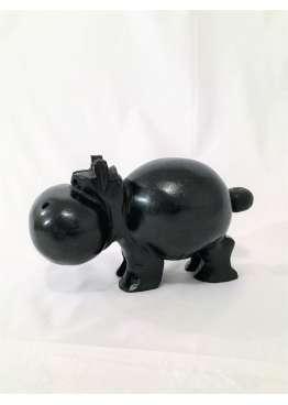 Sculpture Bois Hippopotame