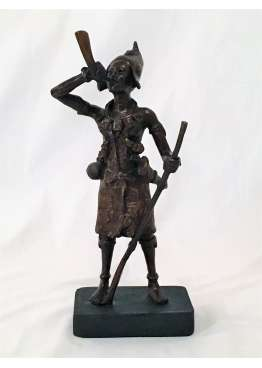 Bronze statue warrior AKBA