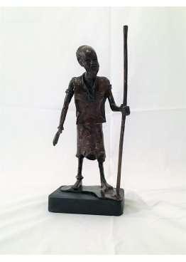 Statuette Bronze LE SAGE AFRICAIN