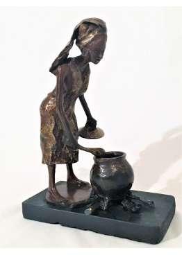 Statuette Bronze CHEF ALIMA